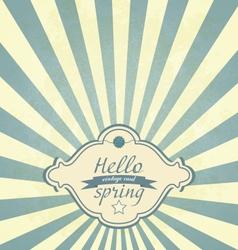 Vintage Spring Frame vector image vector image