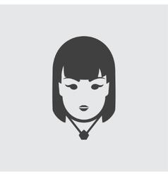 Casino girl icon vector image