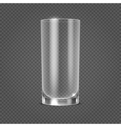 empty realistic drinking glass on vector image