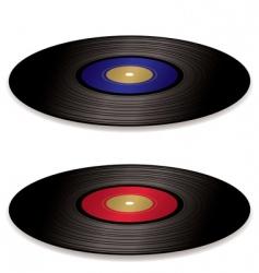 LP record album flat vector image