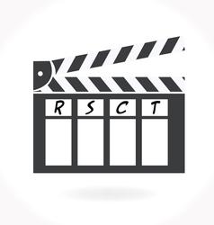 Movie clap icon vector image