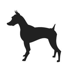 Black Male Doberman Silhouette vector image vector image