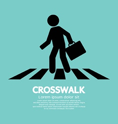 Crosswalk Graphic Sign vector image