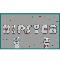 Hipster vintage gray card vector
