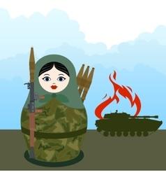 Matryoshka with a bazooka vector image vector image