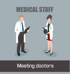 medical staff meeting doctors vector image vector image