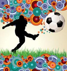 Retro soccer background vector image vector image
