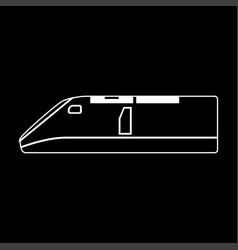 speed train white color path icon vector image vector image