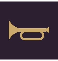 The horn icon clarion symbol Flat vector image