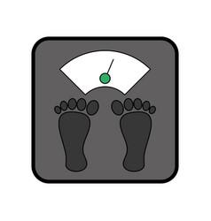 weight body balance vector image