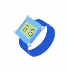 Wrist digital watch icon cartoon style vector image vector image