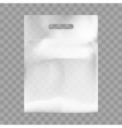 Blank Plastic Bag Mock Up Empty Polyethylene vector image vector image