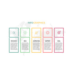 business infographics presentation with 5 vector image vector image