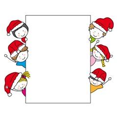 children dressed as santa claus vector image vector image
