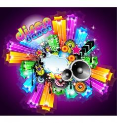 disco dance background vector image vector image