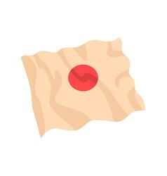 japan flag cartoon vector image