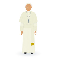 pope character isolated on a white background vector image