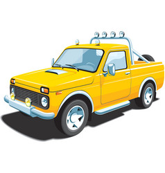 yellow off-road vehicle vector image vector image