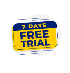 7 days free trial access background vector