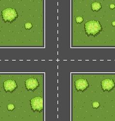 Aerial scene intersection vector