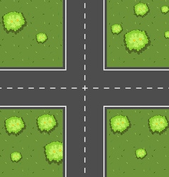 Aerial scene of intersection vector