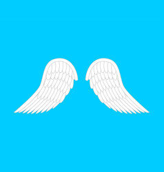 Angel wings isolated white feather bird wings vector
