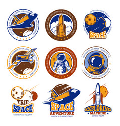 astronaut flight aviation space shuttle and vector image