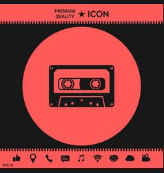 Audio cassette icon vector