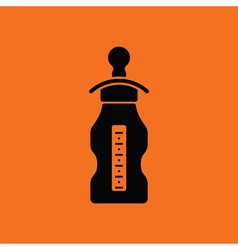 Baby bottle ico vector image