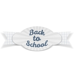 Back to School Sale paper Banner with Text vector image