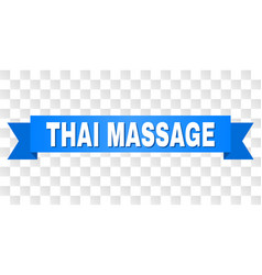 blue tape with thai massage title vector image