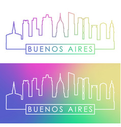 buenos aires skyline colorful linear style vector image