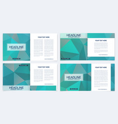 business brochure design template flyer vector image