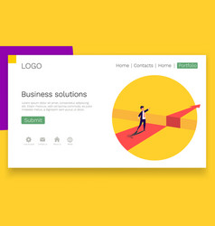businessman standing in front obstacle gap vector image