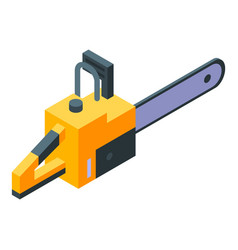 Chainsaw equipment icon isometric style vector
