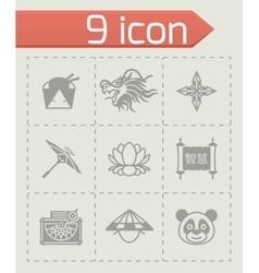 China icon set vector image