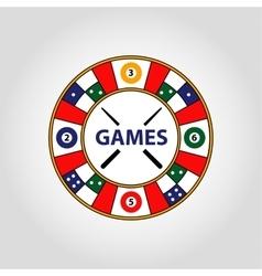 Circle logo Desktop gambling cards vector