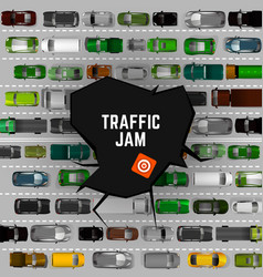 city traffic background vector image