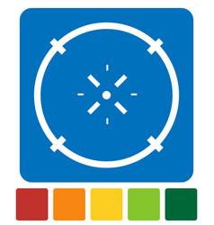 Cross-hair icon precision accuracy efficiency vector