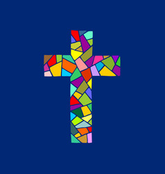 Cross of the lord jesus christ hand drawn vector