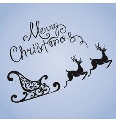 Deer merry Christmas poster template vector