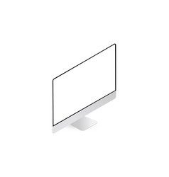 Desktop pc mockup with perspective view isolated vector