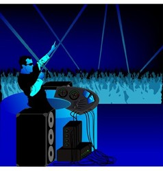Disc Jockey and Audience vector image