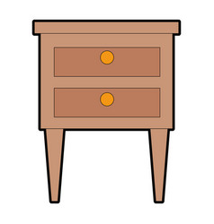 Drawer wooden isolated icon vector
