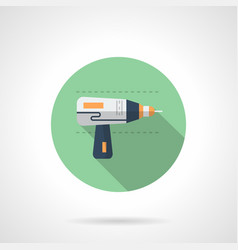 Drilling tool flat round icon vector