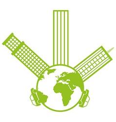 Eco city design vector