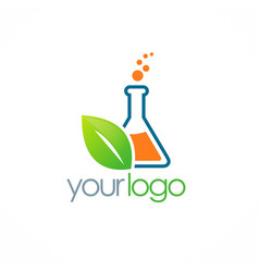 Eco science bottle logo vector