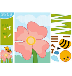 education paper game for children flower meadow vector image