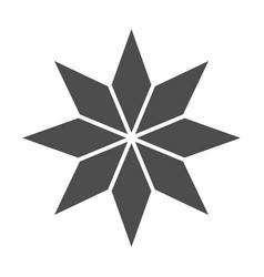 Eight-pointed star solid icon christmas tree star vector
