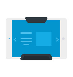 Electronic tablet in holder flat icon isolated vector